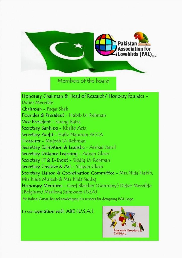 Pakistan Association for Lovebirds