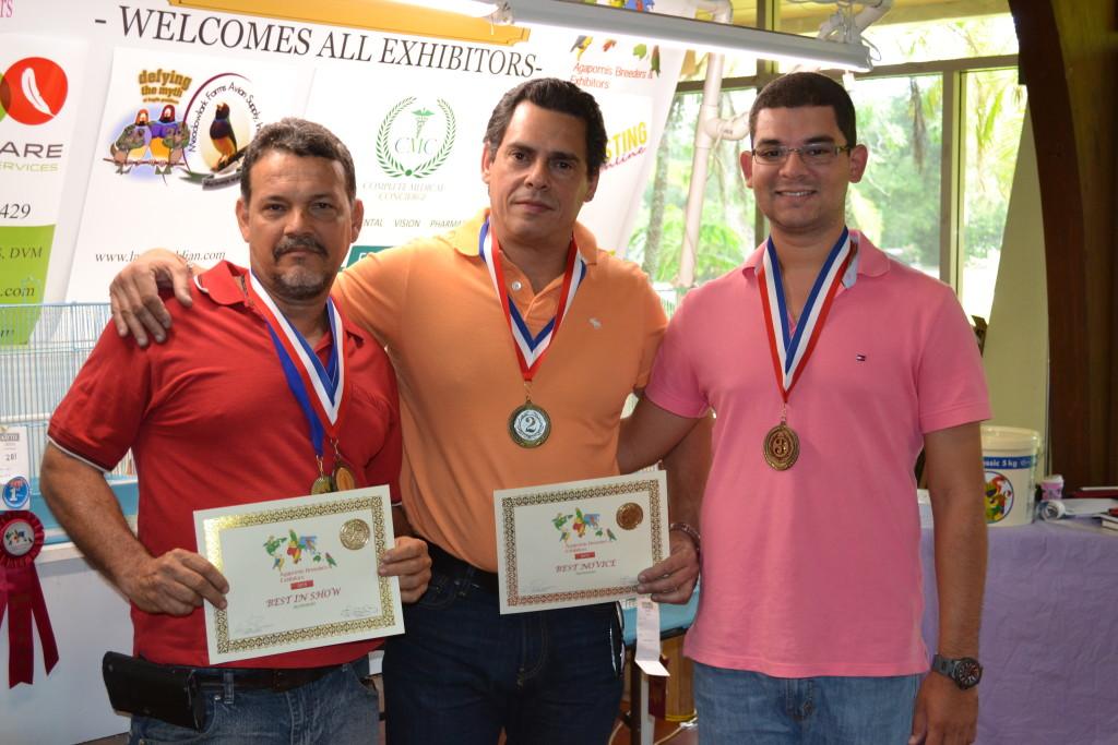 1st place Armando Rodriguez, 2nd place Oscar Bouza, 3rd place Fabio Tarazona